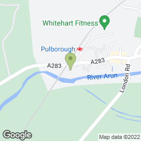 Map of WATERS EDGE CLINIC in Pulborough, west sussex