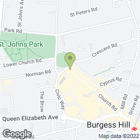 Map of Jasmine Garden in Burgess Hill, west sussex