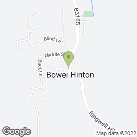 Map of Clive Watts Joinery Ltd in Bower Hinton, Martock, somerset