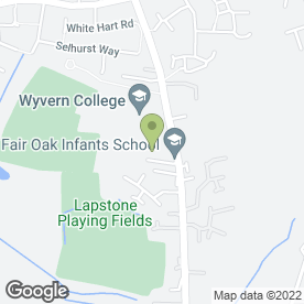 Map of The George in Fair Oak, Eastleigh, hampshire