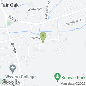 Map of Wagging Tails in Fair Oak, Eastleigh, hampshire