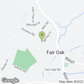 Map of OAK SCHOOL OF MOTORING in Fair Oak, Eastleigh, hampshire
