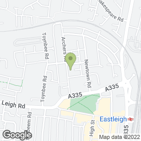 Map of Melissa's Childminding in Eastleigh, hampshire