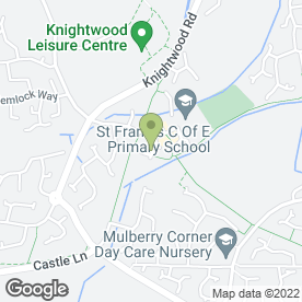 Map of St.Francis Dental Practice in Eastleigh, hampshire