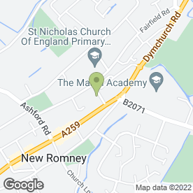 Map of Romney Marsh Funeral Services in New Romney, kent