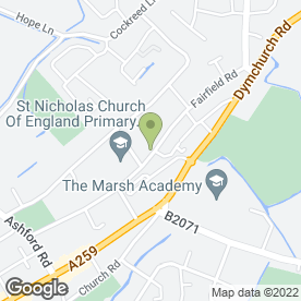 Map of FIRMAGER FUNERAL SERVICE in New Romney, kent