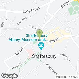 Map of Delight in Shaftesbury, dorset