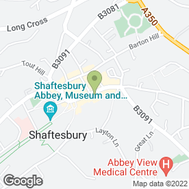 Map of Barlow's Framing in Shaftesbury, dorset