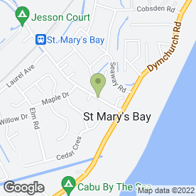 Map of Sunshine & Showers Nursery School in St. Marys Bay, Romney Marsh, kent
