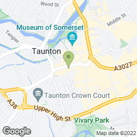 Map of Robert Cooney Estate Agents in Taunton, somerset