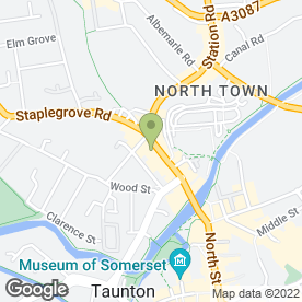 Map of Razer in Taunton, somerset