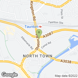 Map of Calverts (Taunton) Ltd in Taunton, somerset