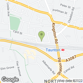 Map of A1 Ace Taxi Services Ltd in Taunton, somerset
