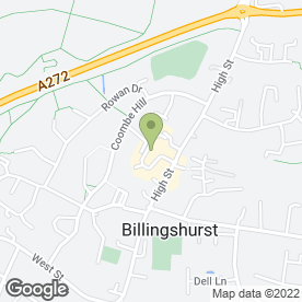 Map of Billingshurst P.O in Billingshurst, west sussex