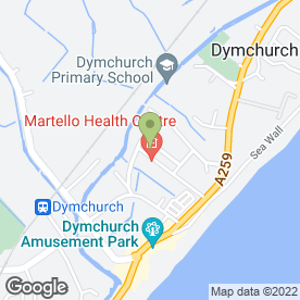 Map of Barefloors in Dymchurch, Romney Marsh, kent