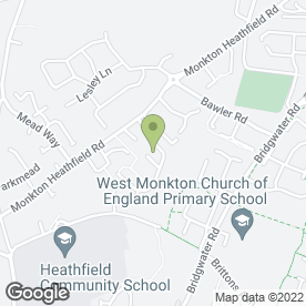 Map of PAS Delivery Services in Monkton Heathfield, Taunton, somerset