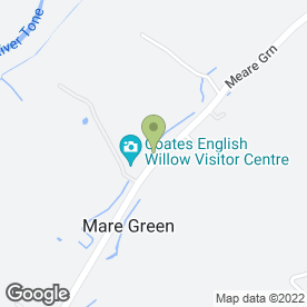 Map of Coates Willow & Wetlands Visitors Centre in Stoke St. Gregory, Taunton, somerset