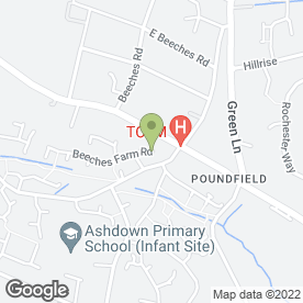 Map of Zippyonedaydelivery.Com in Crowborough, east sussex