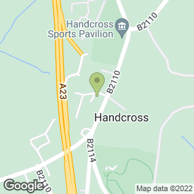 Map of Verralls in Handcross, Haywards Heath, west sussex