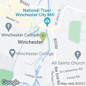 Map of Wolvesey View B & B in Winchester, hampshire