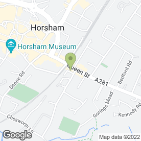 Map of Chappelsons Ltd in Horsham, west sussex