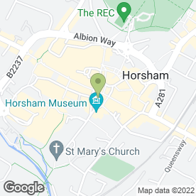 Map of The Hair Shop in Horsham, west sussex