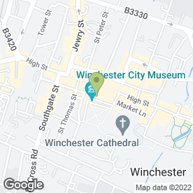 Map of Place in Winchester, hampshire