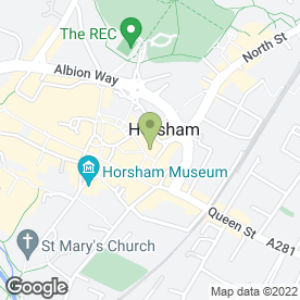 Map of Mail Boxes Etc in Horsham, west sussex