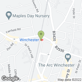 Map of Enterprise Rent-A-Car in Winchester, hampshire