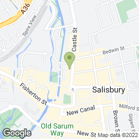 Map of The Professional Sunbed Studio in Salisbury, wiltshire