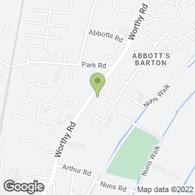 Map of P Smith in Abbotts Barton, Winchester, hampshire