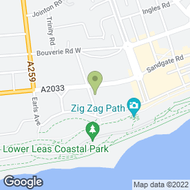 Map of St Heliers Hotel in Folkestone, kent