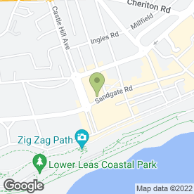 Map of Ready Snacks Cafe in Folkestone, kent