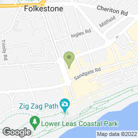 Map of Beresfords in Folkestone, kent