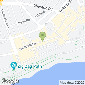 Map of Le Cafe Ganmac in Folkestone, kent