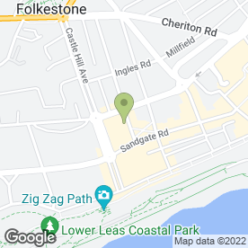 Map of Happy Frenchman in Folkestone, kent