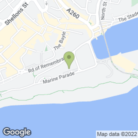 Map of Club Indigo in Folkestone, kent