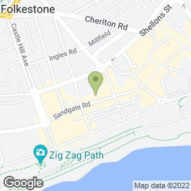 Map of Papas Fish Restaurant & Takeaway in Folkestone, kent