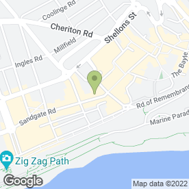 Map of D & A The Opticians in Folkestone, kent