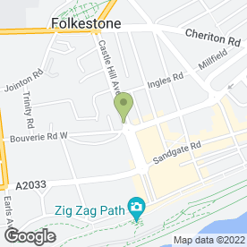 Map of A Pordage Carpentry & Joinery in Folkestone, kent