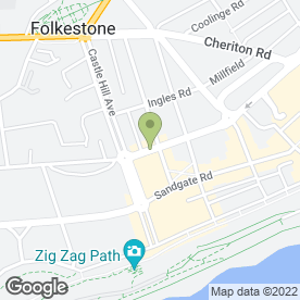Map of Thorn Byrds in Folkestone, kent