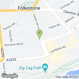 Map of Lucy Bateman Photography in Folkestone, kent