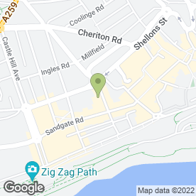 Map of Laurielles Cafe-Restaurant in Folkestone, kent
