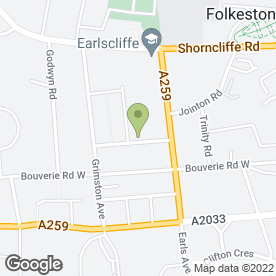 Map of Grimston House in Folkestone, kent