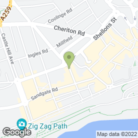 Map of Chris Adams Opticians Ltd in Folkestone, kent