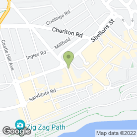 Map of Juice & Milkshake Bar in FOLKESTONE, kent