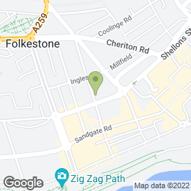 Map of Tudor Lodge Residential Home in Folkestone, kent