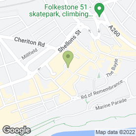 Map of Vodafone Ltd in Folkestone, kent