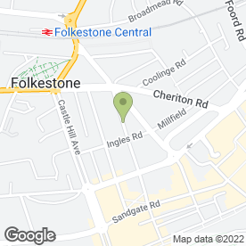 Map of French Language Services in Folkestone, kent