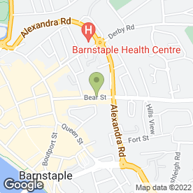 Map of Window Blind Centre in Barnstaple, devon